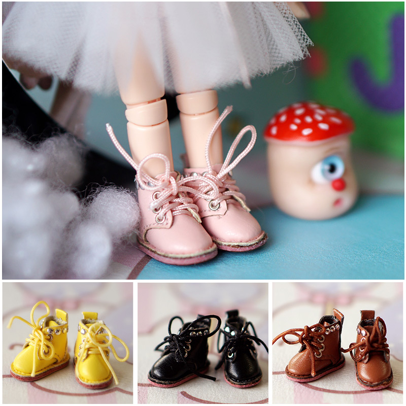 Ob11 Doll Shoes Molly Shoes Leather Boots BJD 1/12 1/8 Mini Salon Sister Holala GSC Doll Shoes Doll Accessories