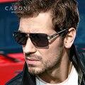 Мужские поляризационные солнцезащитные очки CAPONI  металлические фотохромные очки для вождения днем и ночью  BS031