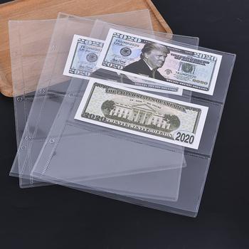 1 sztuk torby do przechowywania pieniądze banknoty papierowe pieniądze na stronie albumu jak zbieranie uchwyt rękawy 3-Slot luźny liść arkusz znaczków kieszeń na karty tanie i dobre opinie CN (pochodzenie) introligatorstwo Banknote Collect Holder Album na zdjęcia z luźnymi stronami 80 Typ z przegródką