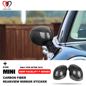 Image 2 - For Mini Copper One S JCW Countryman Clubman F54 F55 F56 F60 F After 2019 Real Carbon Fiber Rearview Mirror Cover Shell Sticker
