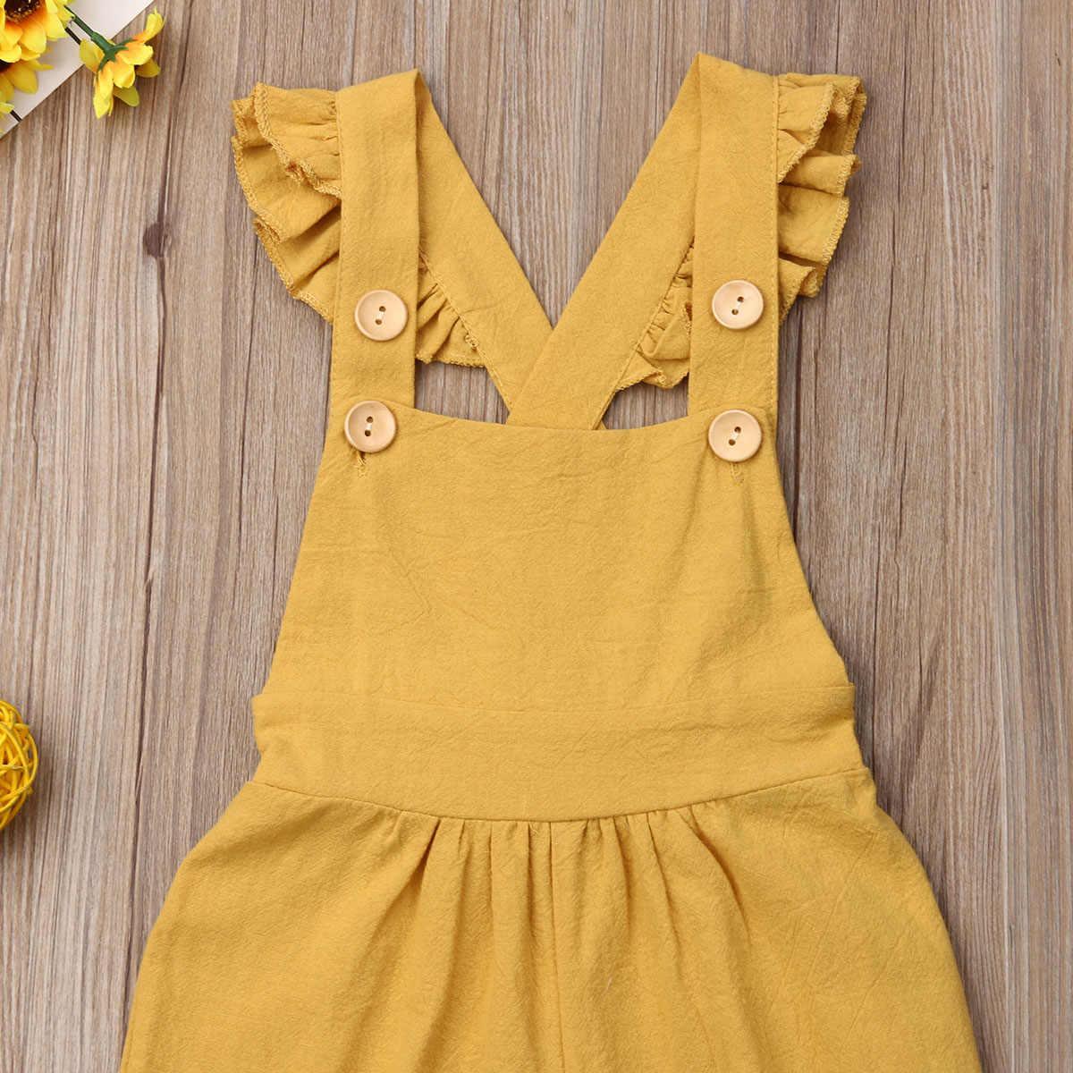 1-4 anos Unisex Bebê Macacão Sem Mangas Botão Bebê Crianças Da Criança Bodysuit Playsuit Macacão Amarelo Roxo Conjunto de Roupas Menina