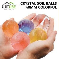 500 pcs Big Crystal Soil Mud Hydrogel Gel Kids Children Toy Water Beads Growing Up Large Water Balls Wedding bonsai Home Decor