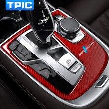 Наклейки из углеродного волокна для интерьера автомобиля, центральное управление, аксессуары для BMW G11 G12 2016 7 серии