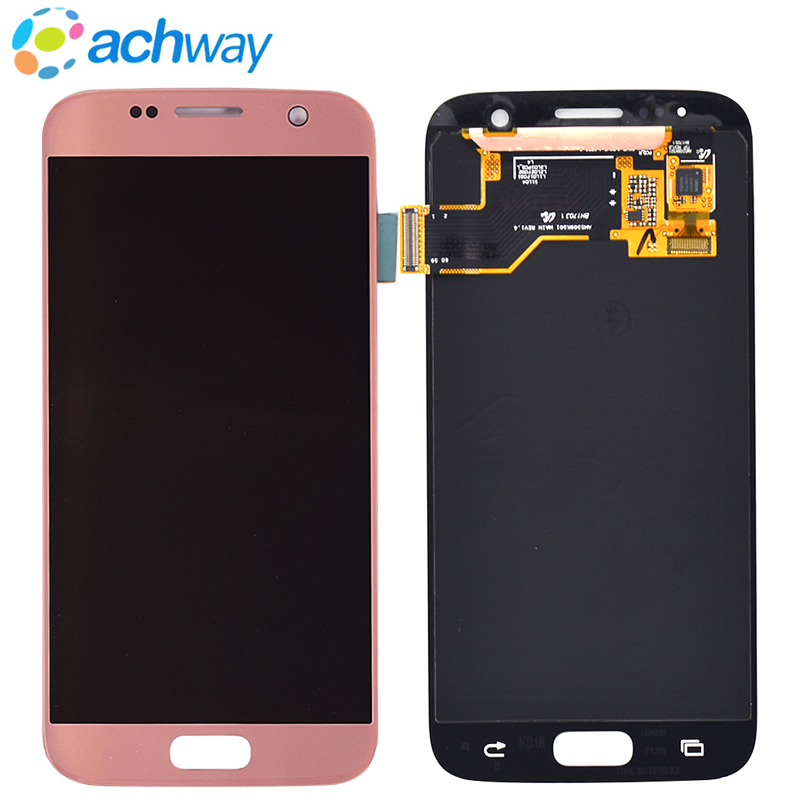 For <font><b>Samsung</b></font> <font><b>Galaxy</b></font> <font><b>S7</b></font> G930 <font><b>LCD</b></font> G930A <font><b>G930F</b></font> SM-<font><b>G930F</b></font> <font><b>Display</b></font> Touch Screen Digitizer Assembly Replacement For <font><b>display</b></font> <font><b>Galaxy</b></font> <font><b>s7</b></font> image