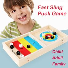 best selling 2020 products Fast Sling Puck Game Paced SlingPuck Winner Board Family Games Toys support dropshipping(China)