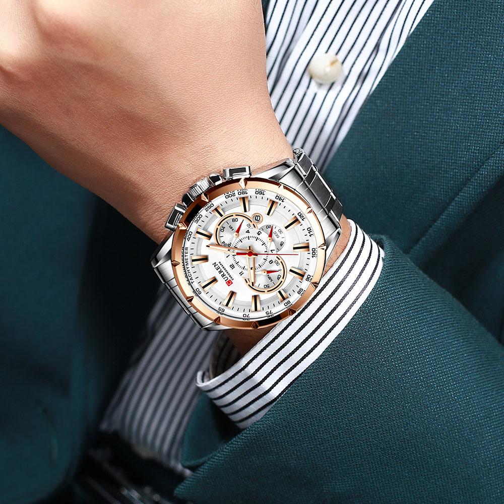 H3b0144d6b2fd4f0489a13311f7e2b097v CURREN New Causal Sport Chronograph Men's Watch
