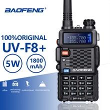 Baofeng BF F8 + Upgrade Neue Walkie Talkie Polizei Zwei Weg Radio Pofung F8 + 5W UHF VHF Dual Band außen Long Range Schinken Transceiver