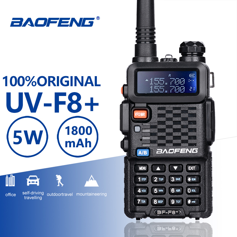 Baofeng BF-F8+ Upgrade New Walkie Talkie Police Two Way Radio Pofung F8+ 5W UHF VHF Dual Band Outdoor Long Range Ham Transceiver
