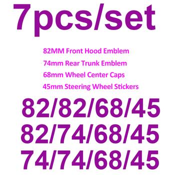 Znaczek na samochód znaczek przód maski bagażnika 82mm 74MM 68MM nakładki środkowe koła naklejki 45mm ozdoba węgielna czerń biały niebieski dla bmw tanie i dobre opinie Opony i Obręczy CN (pochodzenie) Pojazd logo Klej naklejki 6 8inch 1 2inch 8 2inch Emblematy Words Nie pakowane Boot Hood Trunk 82mm 74mm 78mm for bmw E30 E36 E46 3 5 7 X Series