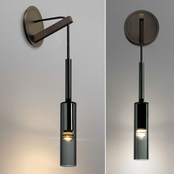 Postmodern light luxury living room bedroom bedside wall lamp creative copper wine bottle designer TV wall lamp