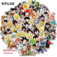 100Pcs Japanese Classic Dragon Ball Sticker Super Saiyan Goku for Skateboard Guitar DIY Home Decoration Luggage Laptop