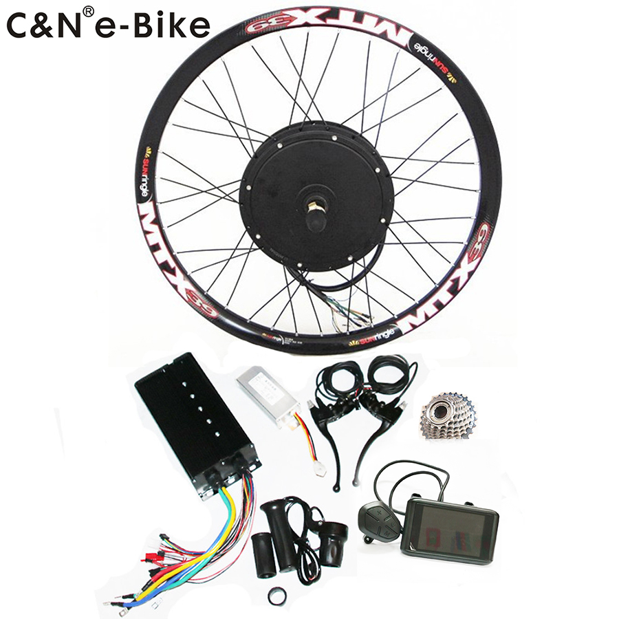 2019 Super Speed 5000w Powerful Wheel Hub Motor Kits With Colorful Display Electric Bike Conversion Kit