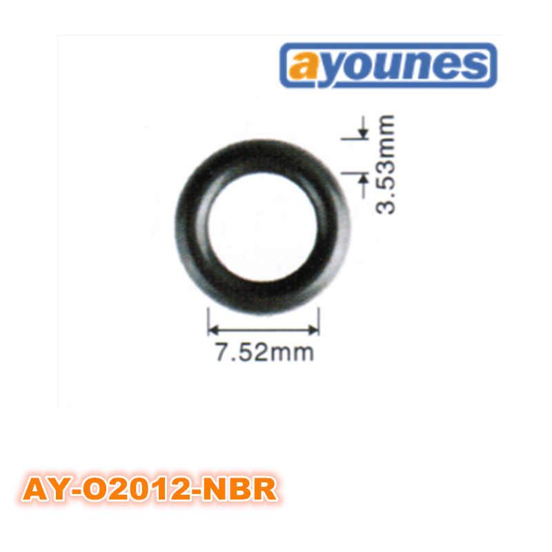 sourcing map 50 unids negro nitrilo butadieno caucho nbr junta t/órica 3.4 mm di/ámetro interior 1.9 mm ancho