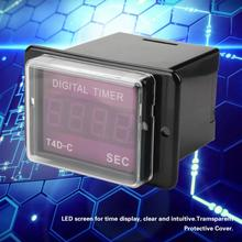 T4D-C 12~60VDC/100~240VAC 50/60Hz Digital Time Relay 99.9/999 SEC MIN HR LED display Time Counter  timer Delay Relay