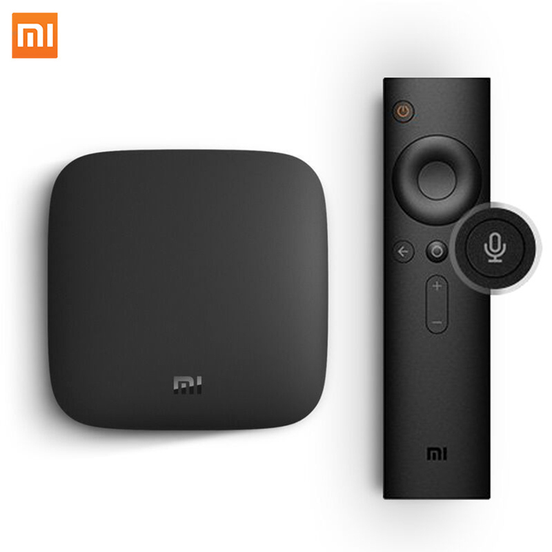 Original Global Xiaomi Mi TV Box 3 4K HDR Android TV 8 1 Ultra HD 2G 8G WIFI Google Cast Netflix Media Player Set top Box Mi Box in Set top Boxes from Consumer Electronics