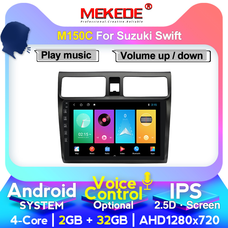 MEKEDE Car Stereo GPS Navigation Multimedia Player For 2005 2006 2007 <font><b>2008</b></font> 2009 2010 <font><b>Suzuki</b></font> <font><b>Swift</b></font> <font><b>Android</b></font> 2.5D Head Unit image