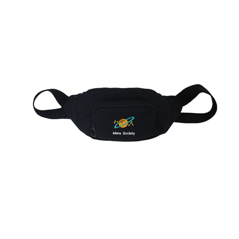 Galleria fotografica Canvas Waist Fanny Pack Belt Bag Travel Hip Bum Small Purse Chest Phone Pouch