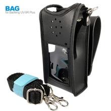 Baofeng Funda de cuero para Walkie Talkie UV 9R Plus, BF A58, BF 9700, GT 3WP, UV 9R, accesorios de UV XR