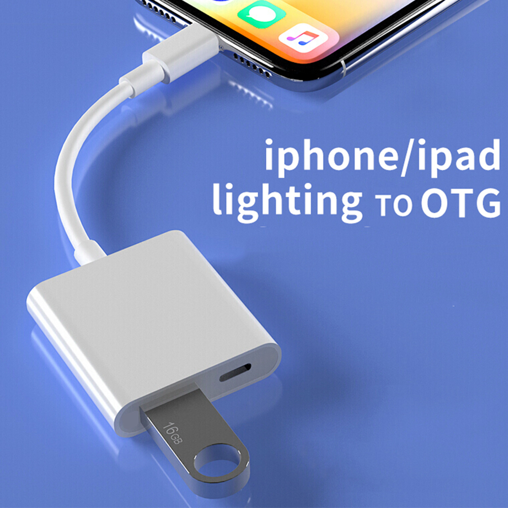 Lightning To USB OTG Adapter For IPhone IPad IOS 13 U-Disk Converter Mouse Keybord Connector IPhone Lightning To USB 3.0 Adapter