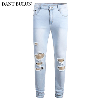Men's Jeans Summer Straight Ripped Jeans Stretch Denim Pants For Young Men Sale Men's Pants Casual Slim Straight Trousers envmenst brand high quality men s jeans hole casual ripped jeans men hiphop pants straight jeans for men denim trousers