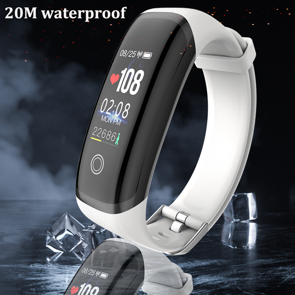 Rovtop M4 Smart Bands Men Bracelet IP67 Waterproof 20M Swim Monitor Heart Rate Fitness Tracker Fit Women Smart Watch Smart Band