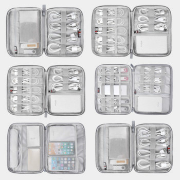 Travel Digital Storage Bag USB Data Cable Organizer Earphone Wire Bag Power Bank Travel Kit Case Pouch Electronics Accessories cable organizer system kit case usb data cable earphone wire pen power bank storage bags digital gadget devices travel