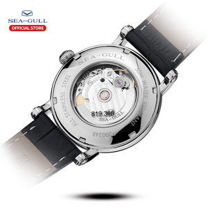 Image 3 - Seagull 2019 novo relógio de negócios casal relógio mecânico 50 metros à prova dwaterproof água couro moda masculino relógio 819.368