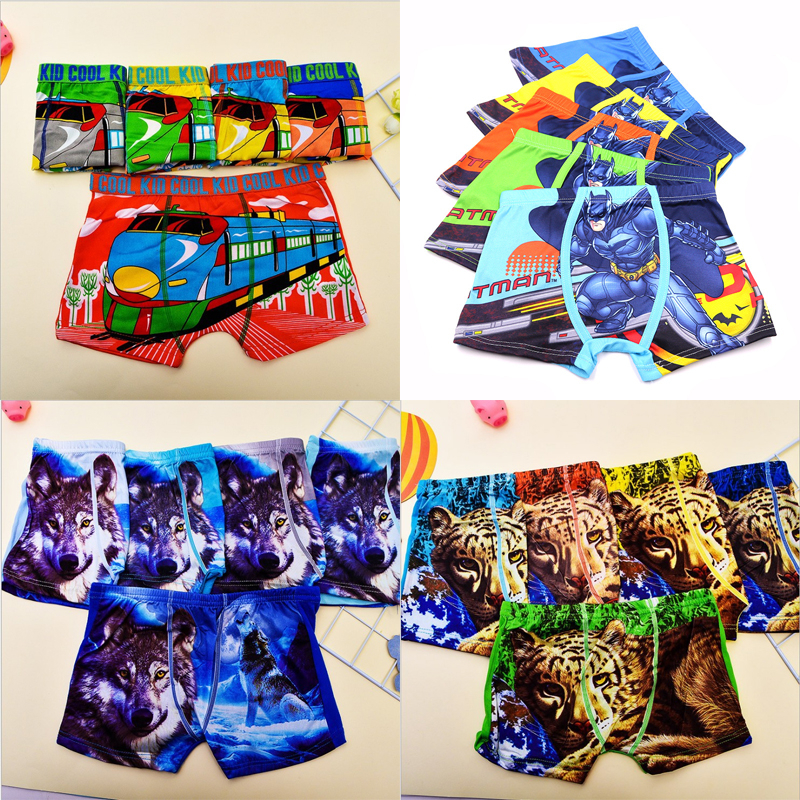 Hot Sale 5pcs/Lot Cute Children Kids Girls Boys Underwear Boxer Infant Panties Fashion Underpants For 2-12Y Panty Baby Girl