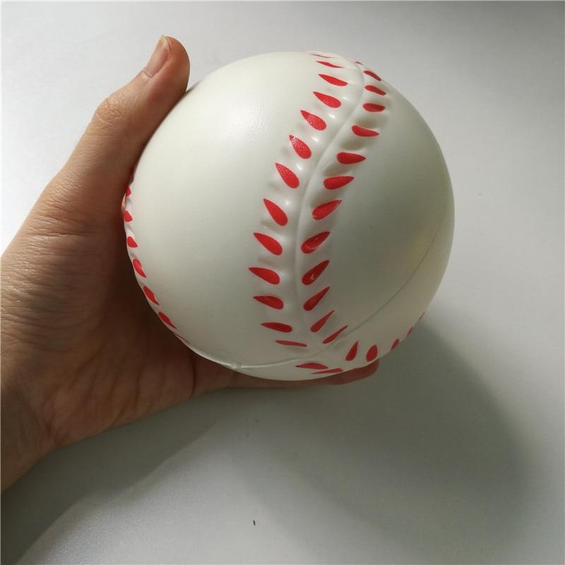 Toys Baseball Anti Stress Ball Soft Foam Rubber Balls Squeeze Squishy Stress Relif Toys For Kids Children 6.3cm/10cm