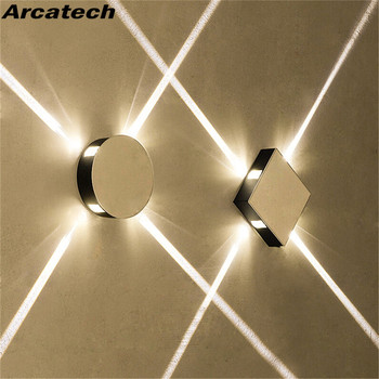 AC85-265V Led Wall Lamp Bedside Lamp Bedroom Living Room Wall Lamp Modern Simple Creative Corridor Hotel Cross Star Wall Lamp modern home led acrylic wall lamp ac85 265v wall mounted sconce lights lamp decorative living room bedroom corridor wall lights