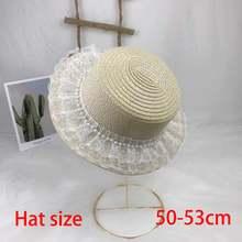 Детская соломенная шляпа для девочек милая летняя воздухопроницаемая