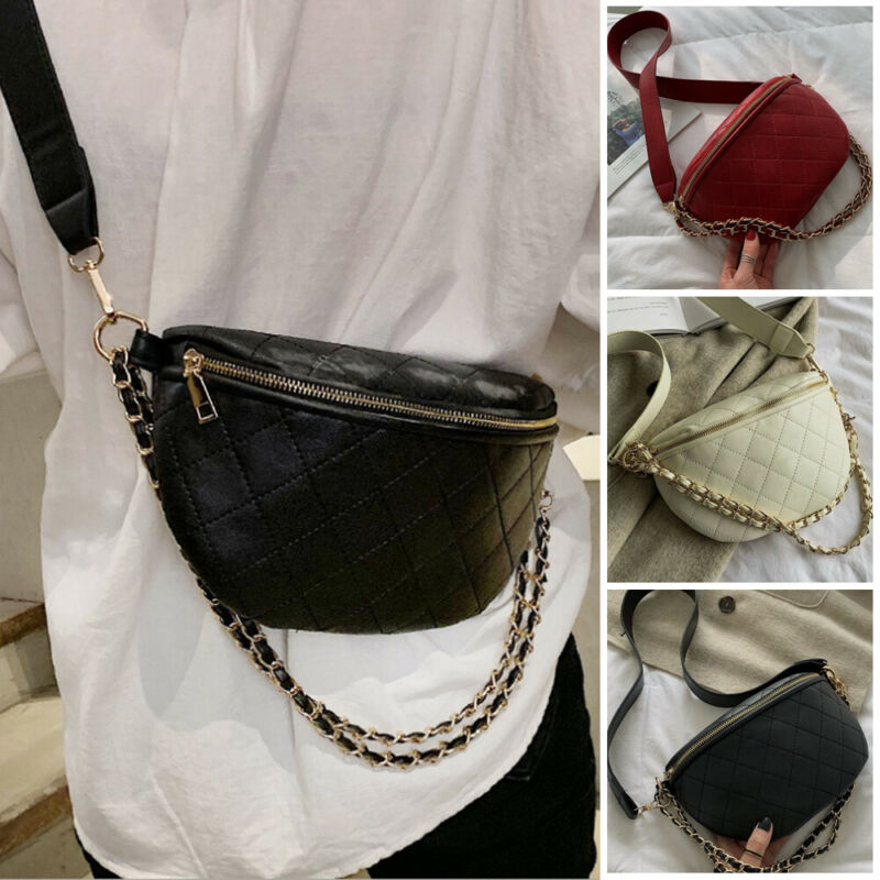 Chest Waist Bag Women Money Phone Carrying Purse PU Leather Fashion Belt Type Pack