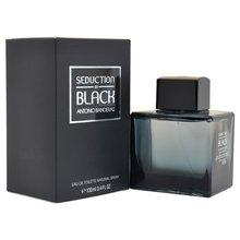 Antonio Banderas erkekler için parfüm uzun ömürlü parfümler Seduction siyah çiçekler meyve lezzet parfüm-3.4 oz EDT sprey