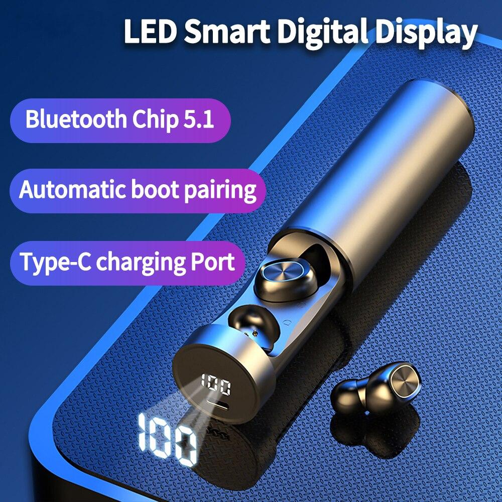 Наушники-вкладыши TWS Bluetooth наушники 5,0 беспроводной стерео Hi-Fi True Wireless In-ear Наушники для бега спортивные Игровые наушники для Xiaomi Samsung с микроф...