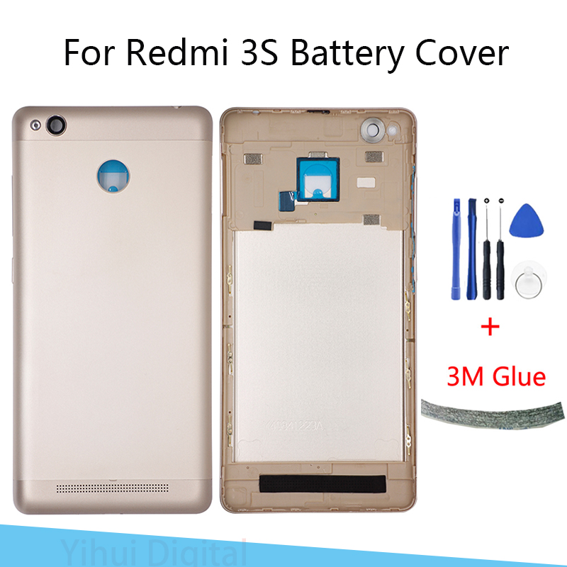 Xiaomi <font><b>Redmi</b></font> <font><b>3S</b></font> <font><b>Battery</b></font> <font><b>Cover</b></font> Rear Door Back Housing Case Middle Chassis Replacement For Xiaomi <font><b>Redmi</b></font> 3 Pro <font><b>Battery</b></font> <font><b>Cover</b></font> image