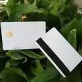 200 шт./лот белый контакт Sle4442 чип смарт IC Пустая карточка из ПВХ с 2750 OE Hi Co магнитной полосой
