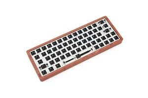 Image 3 - Teclado mecânico personalizado, quente, gk64 gk64x pcb rgb, interruptor leds, tipo c, porta usb, pode combinar, a maioria gh60 capa de madeira cnc