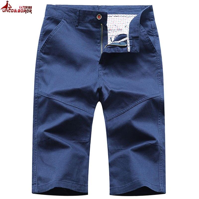 New Summer Casual Business Social Shorts Men Streetwear Pure Cotton Shorts  Bermuda Masculina Beach Shorts Clothing Size 28~36