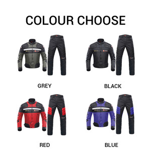 Image 2 - DUHAN Windproof Motorcycle Racing Suit Protective Gear Armor Motorcycle Jacket+Motorcycle Pants Hip Protector Moto Clothing Set