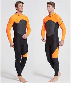 Image 2 - 新加入 3 ミリメートル男性女性水着機器ダイビングスキューバ水泳サーフィンスピアフィッシングスーツトライアスロンウェットスーツ