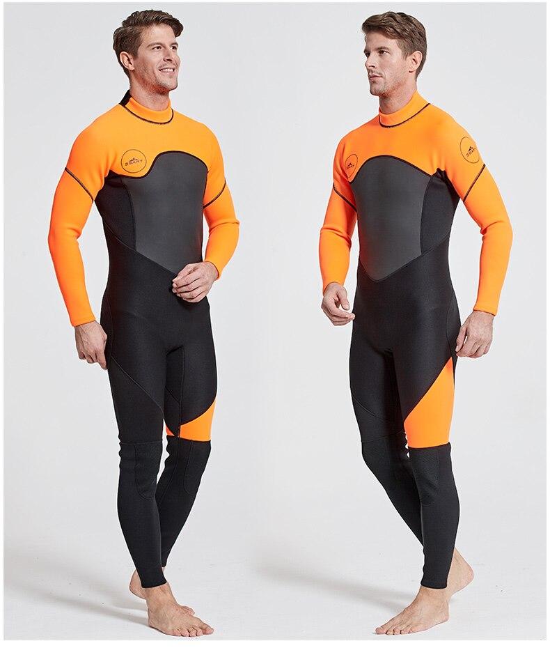Date 3mm néoprène combinaison hommes femmes maillot de bain équipement pour la plongée sous-marine natation surf chasse sous-marine costume Triathlon combinaisons - 3