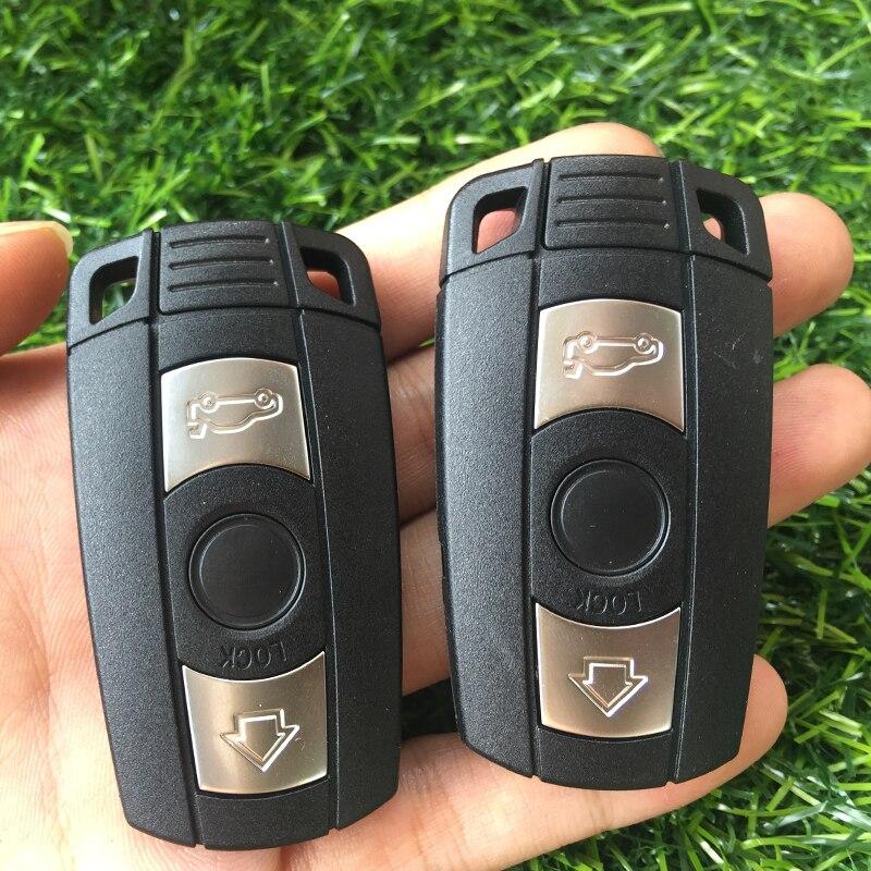 3 botões Caso Fob Chave Do Carro Para BMW E60 E90 E92 E70 E71 E72 E82 E87 E88 E89 X5 X6 Para 1 3 5 6 Série Remoto Inteligente Chave Shell Capa