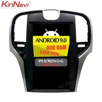 KiriNavi 13.3 Vertical Screen Tesla Style 1 Din Android 9.0 Car Radio For Chrysler 300C Auto Gps Navigation Car Dvd Player 4G