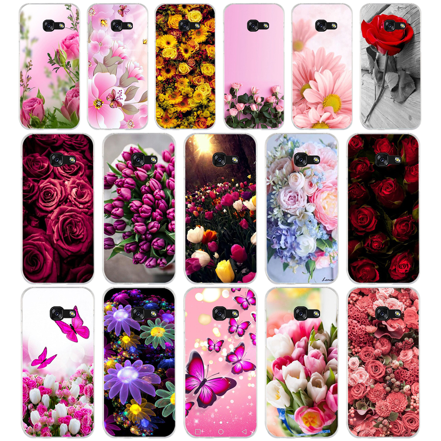 356 Beautiful Garden <font><b>Red</b></font> Roses Flowers Soft <font><b>Silicone</b></font> Tpu Cover phone <font><b>Case</b></font> for <font><b>Samsung</b></font> a3 2016 <font><b>a5</b></font> <font><b>2017</b></font> a6 plus a7 a8 2018 s6 7 89 image