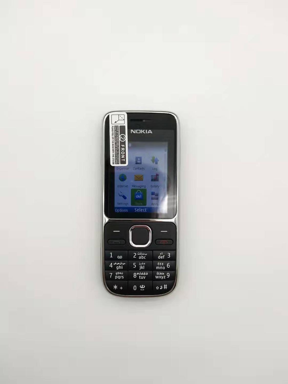"""Nokia C2-01 разблокированный мобильный телефон C2 2,"""" 3.2MP Bluetooth русский и Иврит Клавиатура Восстановленный GSM/WCDMA 3g телефон - Цвет: Черный"""