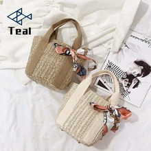 Women Handbag Straw Beach Bag Bolsa Feminina Shoulder Messenger Crossbody Bags for 2019