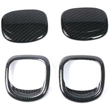 Накладка на ручку сиденья для BMW MINI Cooper S 3DR F56 F57, накладки для салона автомобиля, детали из углеродного волокна, отделка ручки