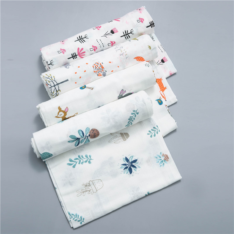 120x110cm Swaddle Baby Cotton Bamboo Blanket Baby Muslin Blanket Swaddling Blanket Muslin