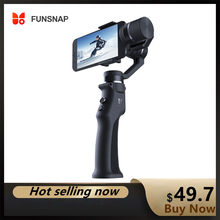 Funsnap 3-axis estabilizador 3 combo handheld smartphone cardan estabilizador para iphone gopro 7 6 5 sjcam eken yi ação câmera zoom