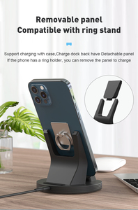 Image 4 - SIKAI Magnetic Charging Dock For iPhone/Micro USB/Type C Phone Holder 5A Magnet Charger For iPhone 11 pro huawei mate 30 pro
